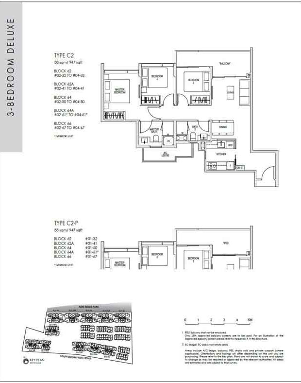 kentridgehillresidences-floor-plan-3-bedroom-deluxe-c2-949sqft
