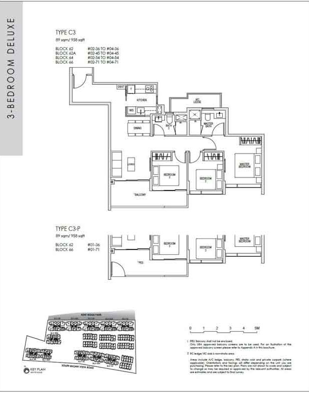 kentridgehillresidences-floor-plan-3-bedroom-deluxe-c3-958sqft