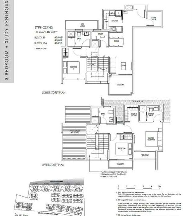 kentridgehillresidences-floor-plan-3study-penthouse-csph3-1442sqft