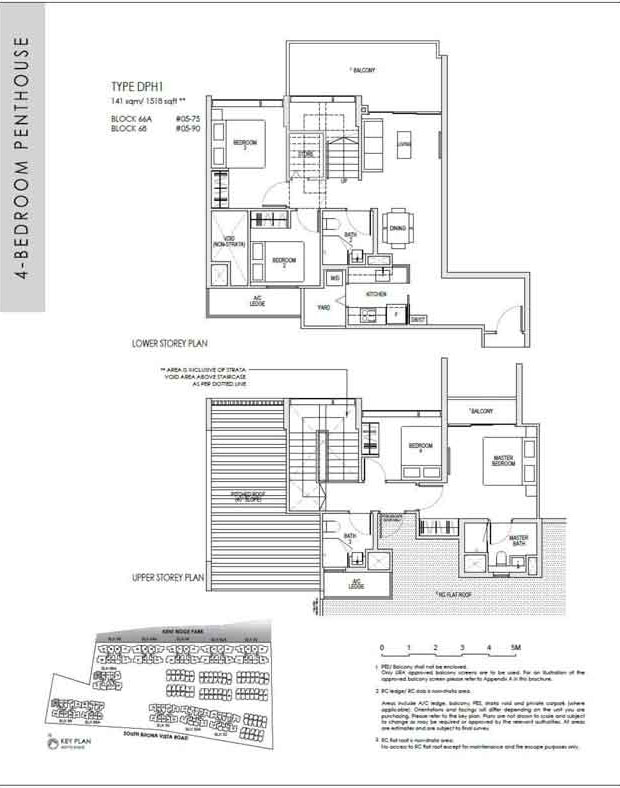 kentridgehillresidences-floor-plan-4-bedroom-penthouse-dph1-1518sqft