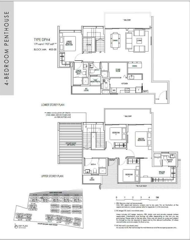kentridgehillresidences-floor-plan-4-bedroom-penthouse-dph4-1927sqft