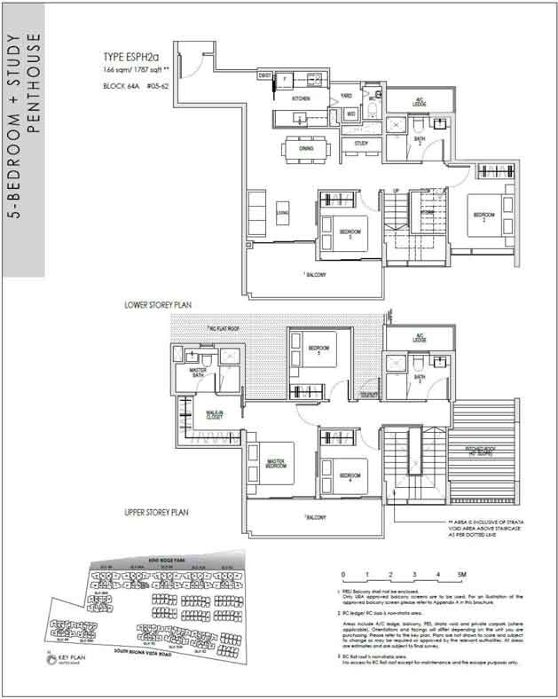 kentridgehillresidences-floor-plan-5study-penthouse-esph2a-1787sqft